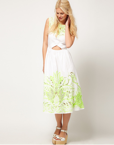 88075df06fb http   www.lyst.com clothing asos-collection-asos-midi-dress -with-neon-embellishment-white  utm source 169126 utm medium product utm campaign link