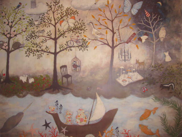 Thenewbeautyreview com you are amazing we love you for Anthropologie enchanted forest mural