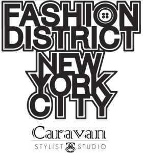 Fashion District Caravan Stylist Studio Logo