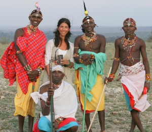 Kenya - Claudine and Samburu Warriors