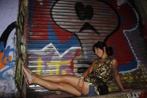 me with graffatti wall 2