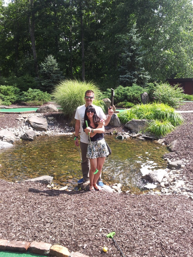 scott and me golfing