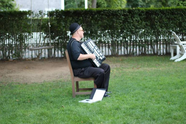 accordian player dude