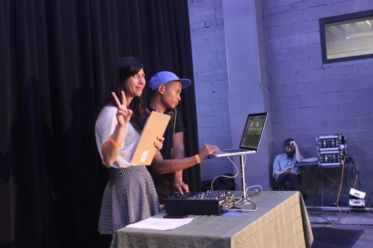 highline fashion event with dj
