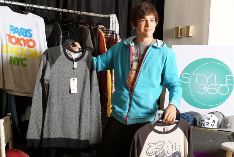 Sept. 12, 2013 - New York City: EXCLUSIVE -  AAustin Mahone Preps for his First Fashion Show, Boy Meets Girl by Ubisoft, at Style360 and Performs his Hit