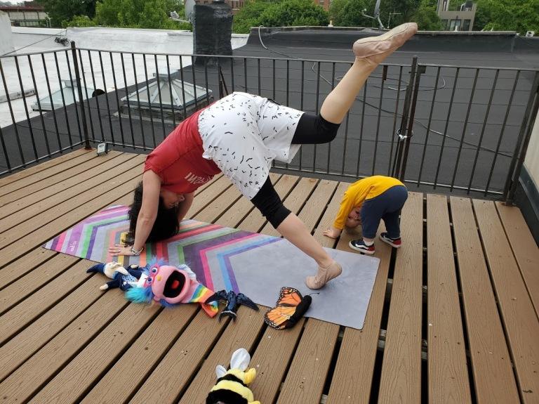 me and tatum love bug yoga